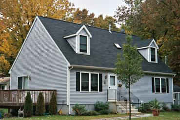 Modular pictures exterior for Cape cod dormer